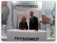 Julie Soroczyn MD of PhysioPod UK Limited and Michael Schleissing of Physiomed take to the stand at Medica, 4 years on...  » Click to zoom ->