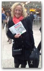 Julie Soroczyn Managing Director of PhysioPod UK Limited arrives at MEDICA 2012  » Click to zoom ->