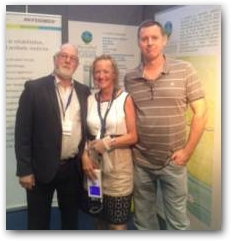 Professor Tim Watson, Julie Soroczyn and Neil Snelson of NRS Sports Therapy joined up on the PhysioPod stand at TherapyExpo 2013 in Manchester to discuss the merits of DEEP OSCILLATION therapy.  » Click to zoom ->