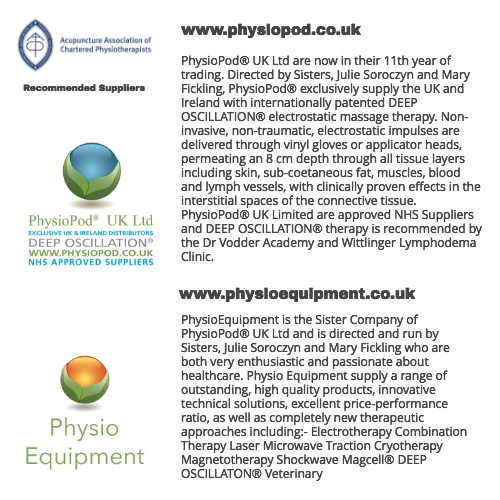 PhysioPod® and Physio Equipment become 'Recommended Suppliers' of
